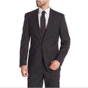 NWT Calvin Klein Black Graph Slim Fit Suit Jacket